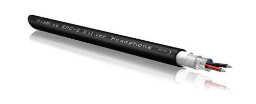 1m Viablue EPC-2 Silver Kopfhörerkabel Meterware OFC DIY Headphone cable 3,5mm