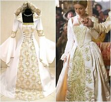 MEDIEVAL WEDDING DRESS 20-22-24 XL-2XL-3XL WITCH GOTHIC COSTUME LARP WICCA GOLD