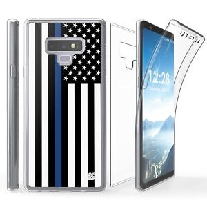 For-Galaxy-Note-9-Tri-Max-360-Full-Body-Screen-Protector-Case-THIN-BLUE-LINE