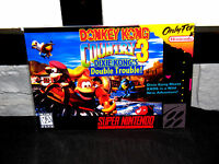 Super Nintendo Snes Donkey Kong Country 3 Box Cover Photo Poster 8.5x11