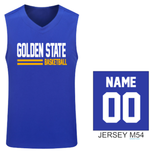 premium selection 121de ff6fa Details about GOLDEN STATE BASKETBALL KID TANK TOP JERSEY VEST CUSTOM  PERSONALIZED NAME S-XL