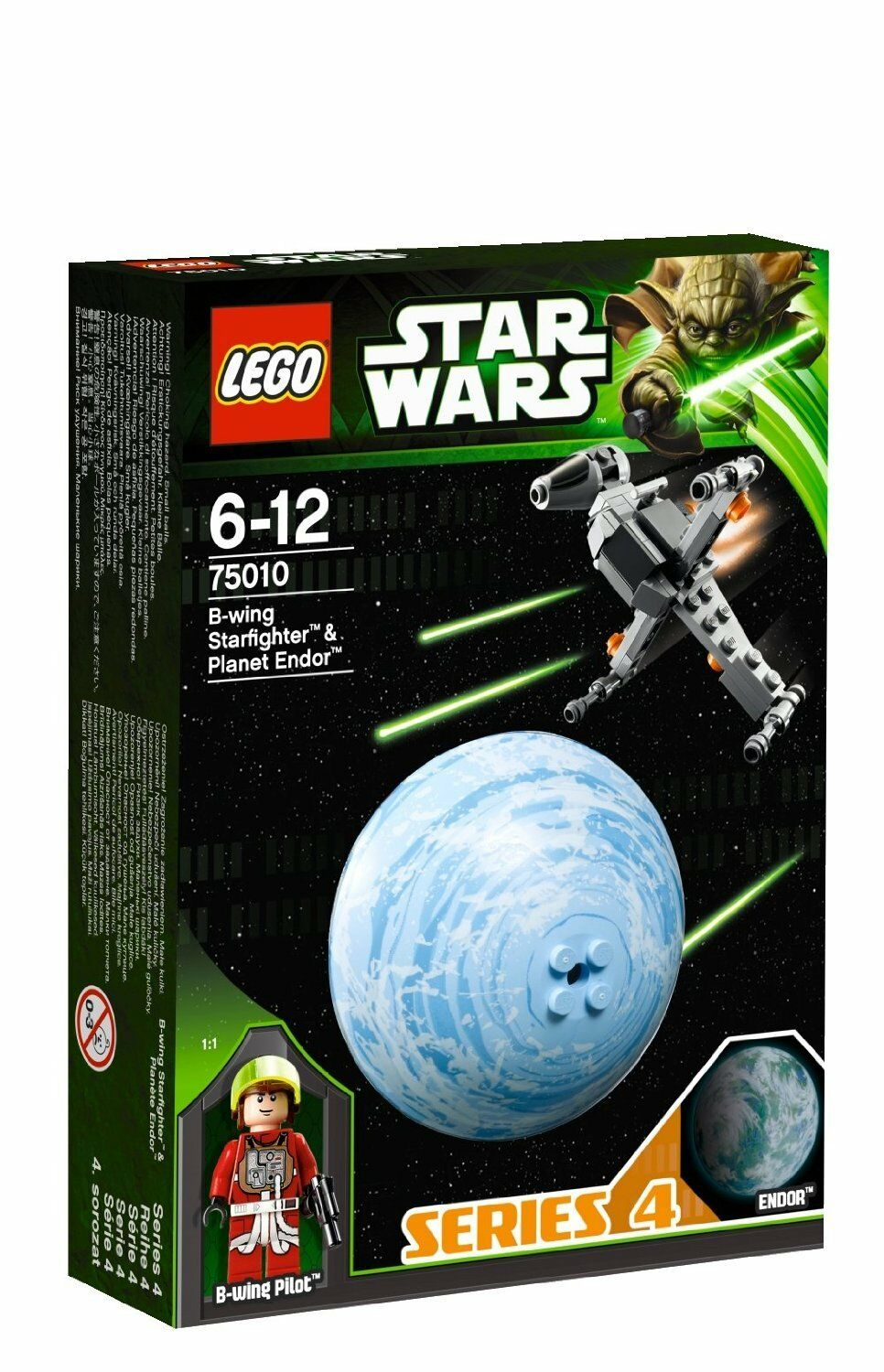 LEGO star wars 75010 B-wing starfighter pilote d'Endor planet planet planet boule series 4 f80d2b