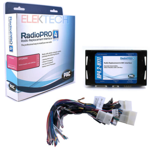 RP4.2-HY11 Radio Replacement Interface w//Steering Controls for NON-NAV Hyundai