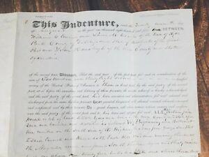 Antique-Indenture-Land-Deed-Hyde-Park-Dutchess-County-New-York-1851-Ephemera-vtg