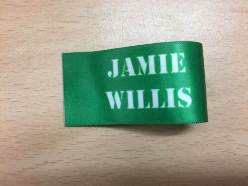 Personalised Coloured Sew In Ribbon Name Labels Nursery School Uniform Care Home