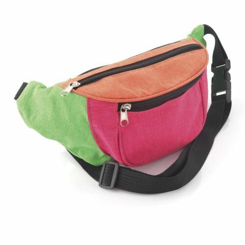 Multi Neon Colour Bum Bag Fanny Pack Festival Money Holiday Shopping Travel Belt