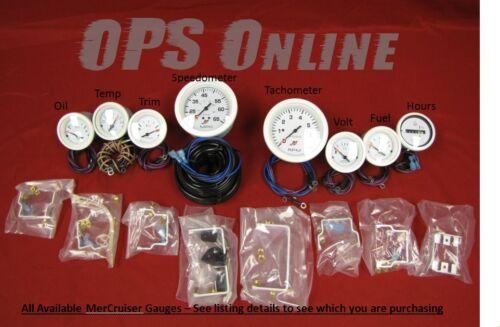 Mercury Inboard Analog Gauge Set White oil 6K Tach,temp,trim,volts fuel,hour