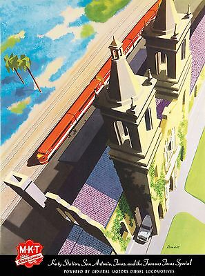 "1920s ""American Railway Express"" Vintage Style Railroad Travel Poster 24x36"