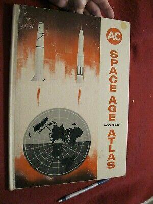 "Fiducioso 1959 Space Age World Atlas: From Ac Candela; Cartonato 10-1/4 X 14-1/4 """