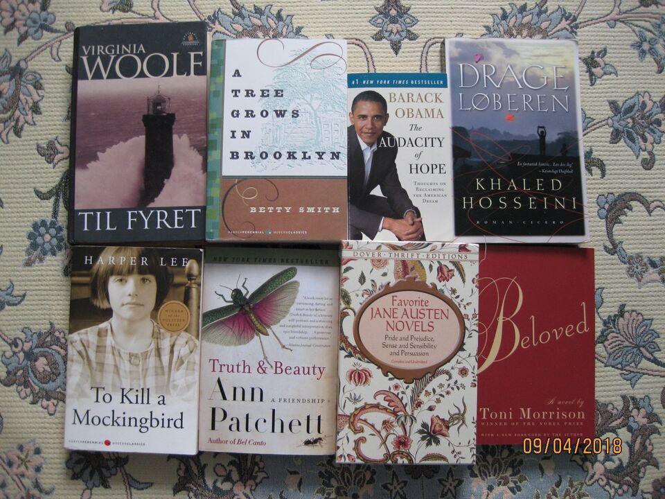 Forskellige bøger, Forskellige forfattere, genre: anden