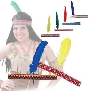 Indianerkopfsc<wbr/>hmuck mit Feder Indianer Kostüm Indianerstirnb<wbr/>and 126490013