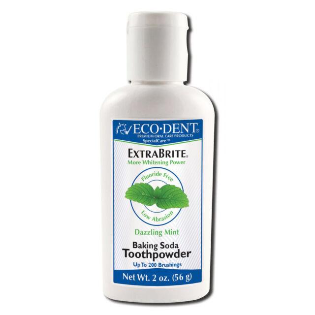 ECODENT - ExtraBrite No Fluoride Tooth Whitener Naturally Effervescent 2 oz(56g)