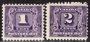 CANADA 1930/2 POSTAGE DUE STAMP Sc. # J 6/7 MNH
