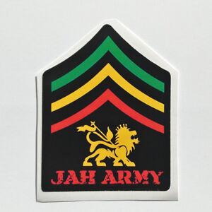 Lion of Judah Sticker decal vinyl rasta rastafari jamaica ragga dub ... 0e6063b7451
