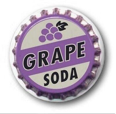 1 inch / 25mm Button Badge - GRAPE SODA design - Novelty Cute Up!