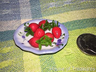Plate Rement Dollhouse Miniature Decor 2cm Hawaiian Flower Anthurium Bowl