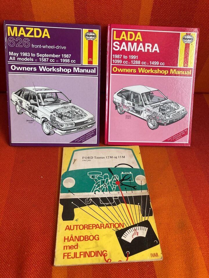 Værkstedsreparationsbog, Mazda 626, Lada Samara