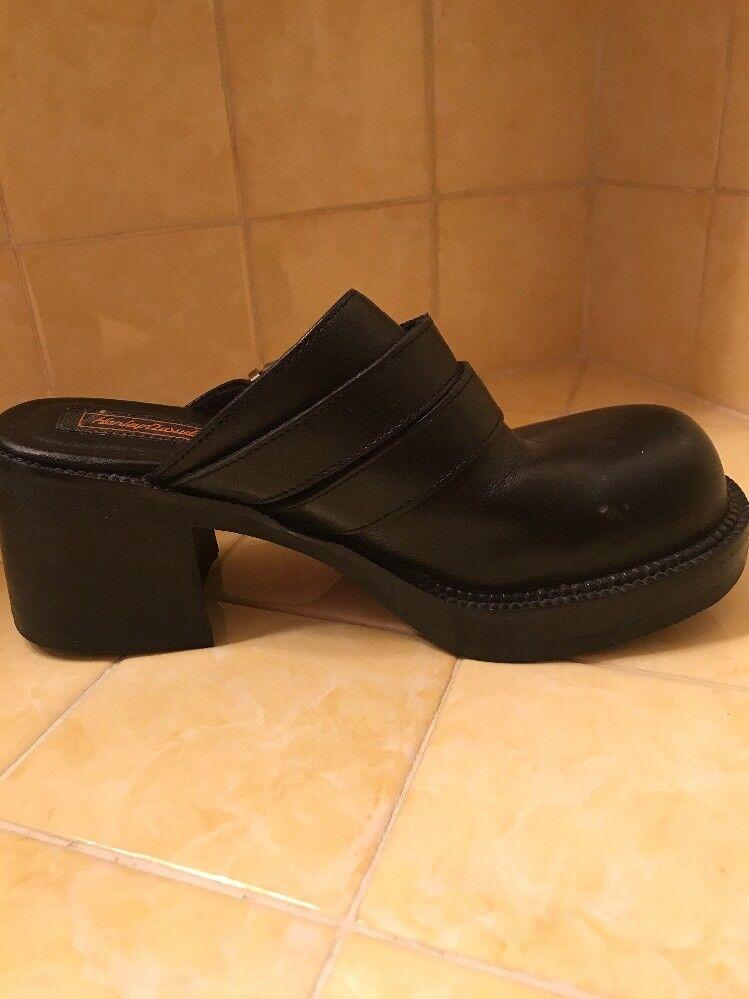 negozio a basso costo Harley Davidson Leather Leather Leather nero Clogs 7 1 2 Dual Strap scarpe  ordina adesso
