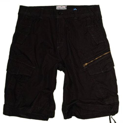 Cargo Shorts Pantaloni Estivi Taglia m-3xl XXXL #h-tc021 nero Bermuda UOMO PANTALONI 3//4
