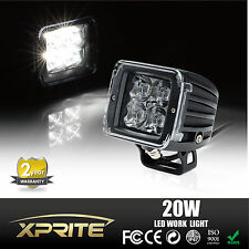 """Xprite 3"""" 20w CREE Cube LED Work Light With Amber, Blue, Red, and Clear Covers"""