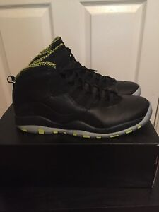 95b73af1152141 ... order image is loading nike air jordan 10 retro venom green black 961e6  d5395