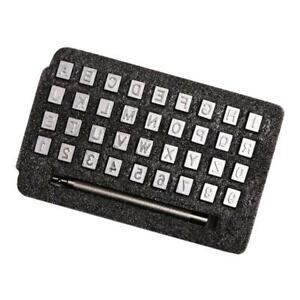 Set-Di-Punzoni-In-Metallo-36-Lettere-E-Numeri-In-Metallo-E-Manico-Per-Timbri