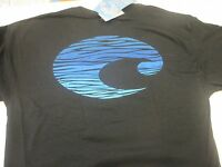 Authentic Costa Del Mar, Swell, Black Short Sleeve T-shirt Size - 2xl