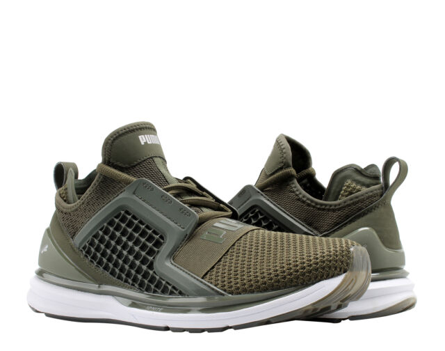 Puma IGNITE Limitless Weave Forest Night Olive Men s Running Shoes 19050301 38f5d9932