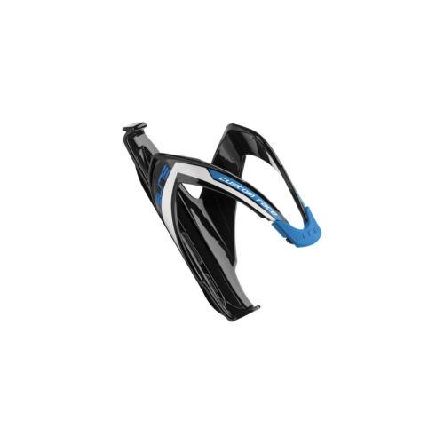 Elite Custom Race Bottle Cage Black Glossy//Blue Graphics