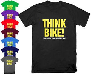 Think-Bike-Motorcycle-Biker-T-Shirt-Funny-Birthday-Present-Gift-Dad-Top-S-5XL