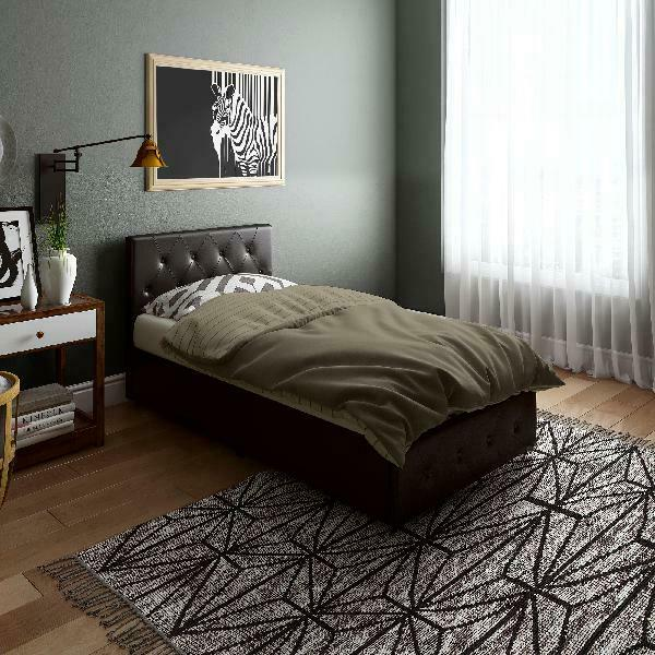 Multiple Size Bed Frame With Storage 4 Drawers Tufted Headboard 2 Colors