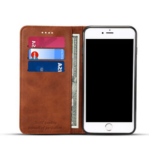 Leather-Flip-Wallet-Card-Holder-Phone-Case-Cover-For-iPhone-6-7-8-Plus-X-XR-XS