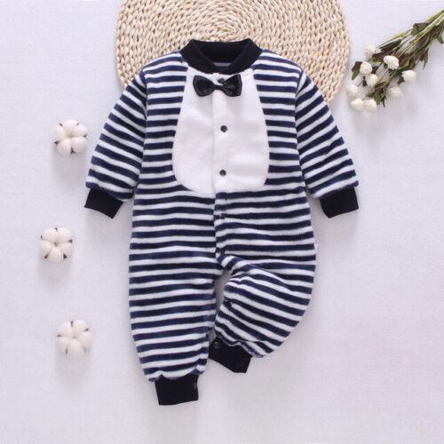 1pc baby newborn boys girls clothes soft warm fleece winter bodysuit jumpers