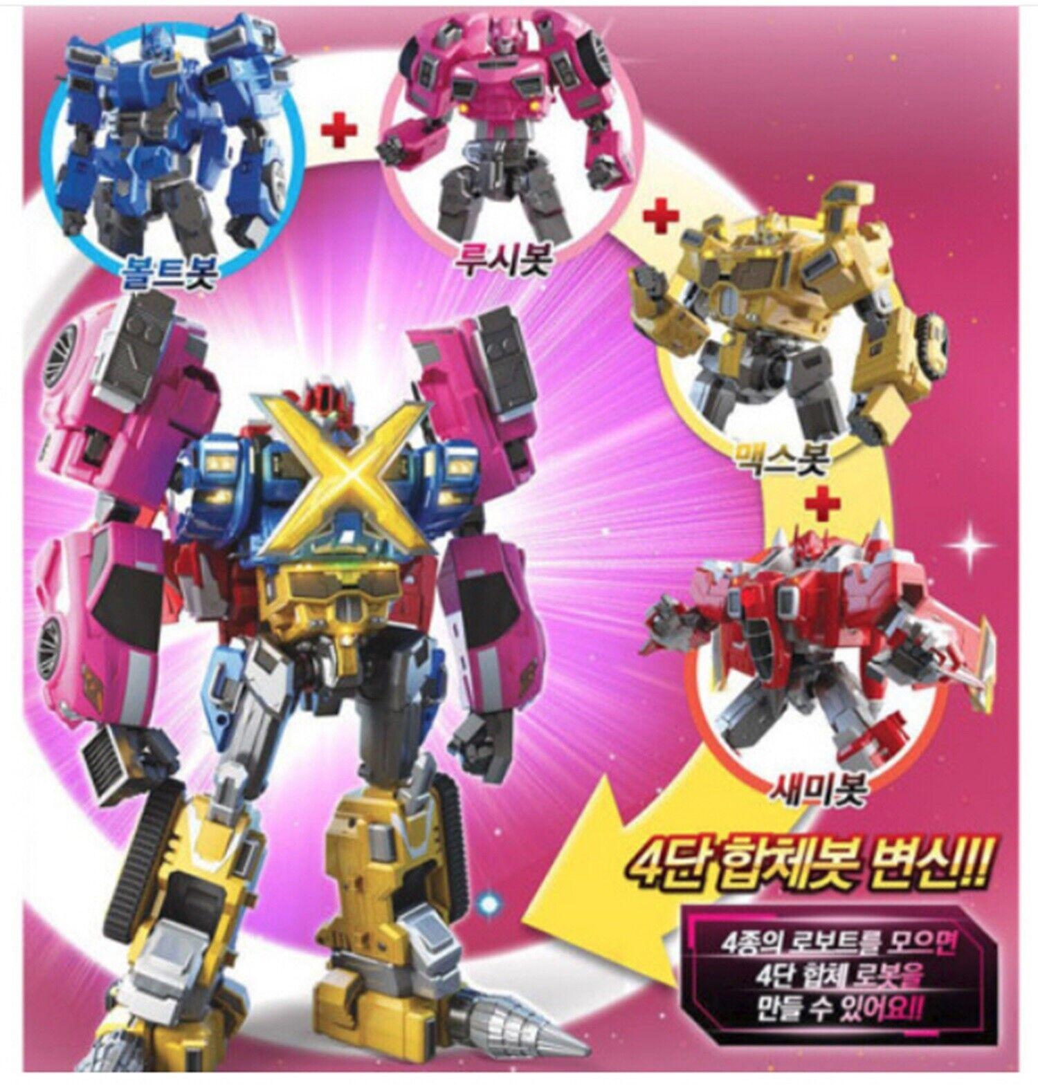Set Completo De 4 Robot Miniforce X Transformer Robot BOLTBOT, LUCYBOT, MAXBOT, semibot
