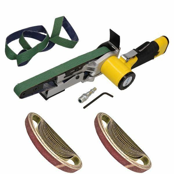 20mm Variable Speed Air Belt Sander 5 Speeds + 28 x 520mm x 20mm Belts