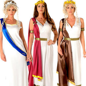 Roman Goddess Ladies Fancy Dress Ancient Greek Athena Womens Adults ... d6e0c8ee3f15