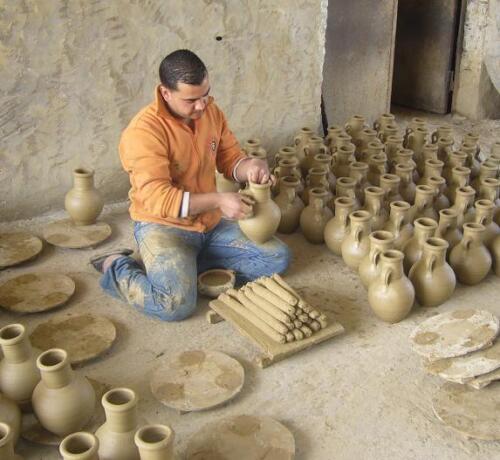 Amphore 30 Cm Aus Terracotta Terrakotta Vase Wasserlauf