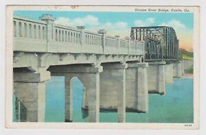 Vintage-Old-Postcard-Oconee-River-Bridge-Dublin-Georgia-GA