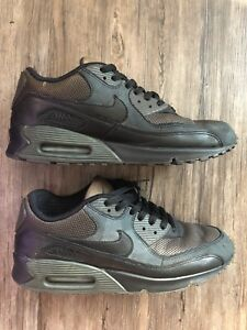 the best attitude 1b8db afd67 Image is loading Nike-AIR-MAX-90-Premium-Tech-Pack-Black-
