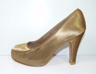 Hermoso Rompecabezas Metálico Tacón Alto Zapatos Tribunal-Size UK 4 EU 37