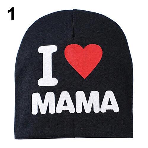 BG/_ Infant Baby Beanie Cap Boy Girl Toddler I Love Papa Mama Cotton Blend Hat Ey
