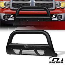 For 2002 2009 Dodge Ram Textured Black Studded Mesh Bull Bar Brush Bumper Guard Fits 2005 Dodge Ram 1500