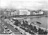 AK, Hamburg, Partie am Jungfernstieg mit Alsterpavillion, belebt, um 1960