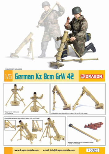 "Dragon 1//6 Scale WWII German for 12/"" Soldiers Kz 8cm GrW 42 Mortar Kit 75023"