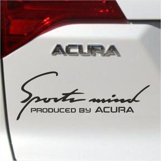 Sports Mind Produced by Acura Logo Decal Sticker BLACK RLX TL TSX ILX M1