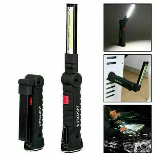 LED COB Work Light Mechanic Work Shop Inspection Lamp Hand Torch Rechargeable dd