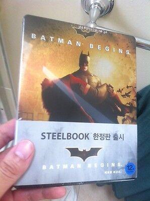 Batman Begins Blu-ray Steelbook | Korean Exclusive w/ 1/4 slipcover | NEW RARE