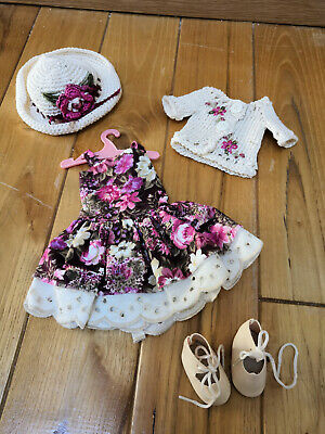 "2019 Moda Sweater, Sundress, Hat Set Made For Effner Little Darling & Similar Size 13"" Dol Prezzo Ragionevole"