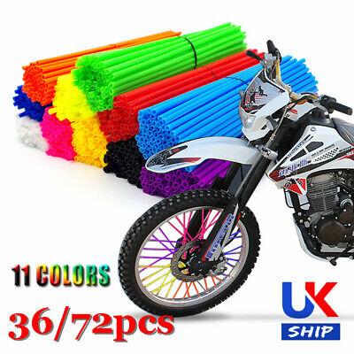 color tree 72pcs//lot Spoke Skin Covers Wheel Rim Spoke Wraps for Universal Motocross Dirtbikes Black