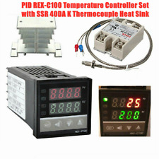 Temperature Controller Pid Rex C100 Kit With Ssr 40da K Thermocouple Heat Sink